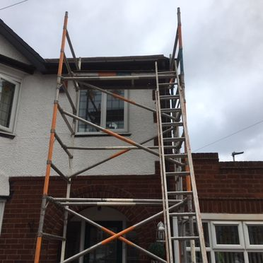 Roofing Services with Scaffolding